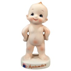 Vintage Kelvin's September Birthday Kewpie Baby Figurine