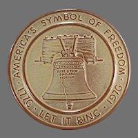 Vintage Frankoma Pottery - Bicentennial Liberty Bell Trivet Hot Plate