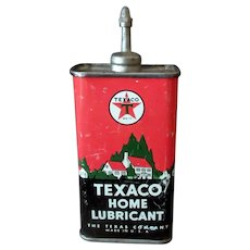 Vintage Texaco Home Lubricant Oil – Texas Co. Advertising Tin