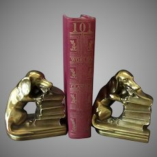 Vintage PM Craftsman Bookends - Dachshund Dogs by Philadelphia Manufacturing Co.