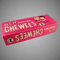 Vintage 1960's Curtiss Cherry Chewees Candy Box