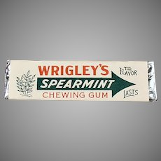 Vintage Stick of Wrigley's Spearmint Chewing Gum