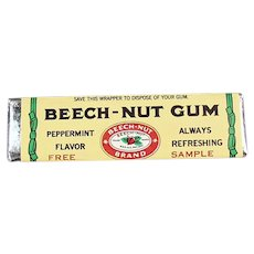 Vintage Sample Stick of Beech-Nut Peppermint Chewing Gum
