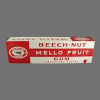 Vintage Beech Nut Mello Fruit Gum Store Display Box - 15 Inches Long
