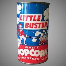 Vintage Unopened Popcorn Tin - Little Buster Pop Corn from Illinois