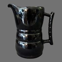 Vintage Frankoma Pottery – 26D One Quart Pitcher in High Gloss Black Glaze