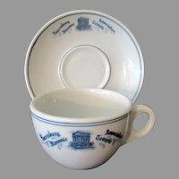 Vintage Restaurant China – 1926 Harrisburg Association Masonic Temple Cup & Saucer