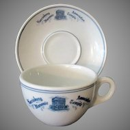 Vintage Restaurant China – 1926 Harrisburg Association Masonic Temple Cup & Saucer