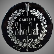 Vintage Typewriter Ribbon Tin - Silver Craft by Carter's Ink Company