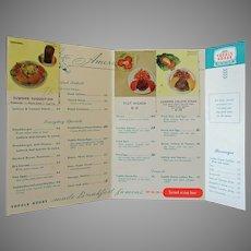 Vintage Toddle House Restaurant Menu – Filet Mignon $1.50 – 1950's/1960's