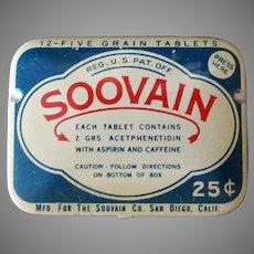 Vintage Medicine Tin – Soovain Aspirin Medical Tin