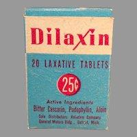 Vintage Dilaxin Laxative Box - Medicine Advertising