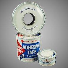 Assorted Vintage J & J Red Cross Medical Tins - Advertising Grab Bag