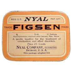Vintage Medicine Advertising – Old Nyal Figsen Laxative Tin