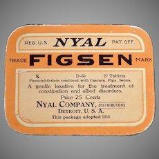 Vintage Medicine Advertising – Old Nyal Figsen Laxative Tin