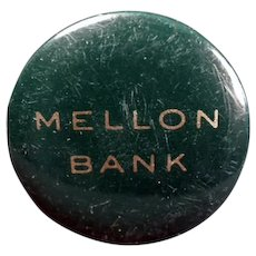 Vintage Celluloid Tape Measure - Mellon Bank Advertising