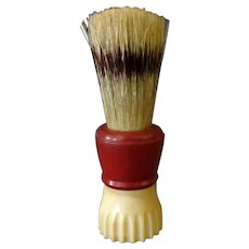 Vintage Klenzo Shaving Brush with Badger Bristles - 2-Tone Bakelite Handle