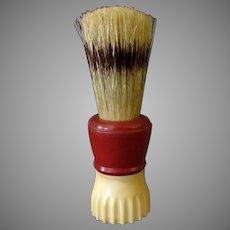Vintage Klenzo Shaving Brush with Badger Bristles - 2-Tone Bakelite Handle
