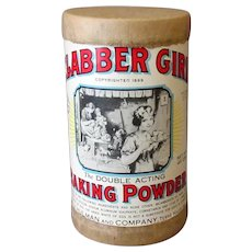 Vintage Clabber Girl Baking Powder - Old Advertising Sample Box