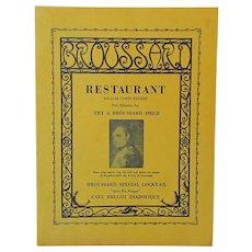 Vintage Broussard Restaurant Menu – New Orleans Fine Dining Restaurant