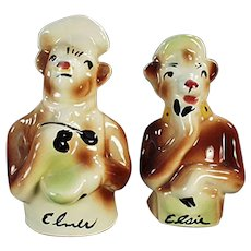 Borden's Famous Cows - Vintage Elsie & Elmer Salt & Pepper Set