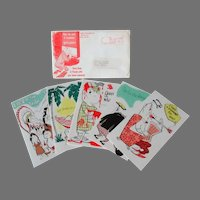 Comical Vintage Greeting Cards - SylvaNotes with Place for Photograph