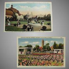 Vintage Postcards - Southern California Exposition Souvenir Postcards