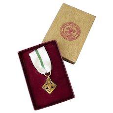 Vintage Boy Scout Den Mother's/Leader's Training Award Medal with Presentation Box – 1956-1965