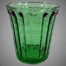 Vintage Akro Agate One Ounce Green Glass - Doll Dish or Shot Glass