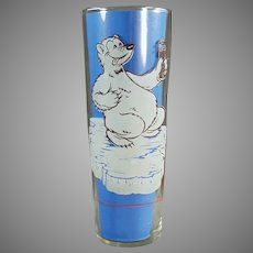 Vintage Richardson Freeze Advertising Soda Glass - Cool Off Polar Bear - Two Available