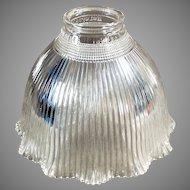 Vintage Glass Light Fixture Shade - Single I-5 Holophane
