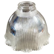Vintage Glass Light Fixture Shade - Single I-5 Holophane