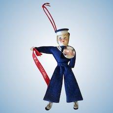 Vintage Felt Sailor Doll - M.N. Vulcania Souvenir