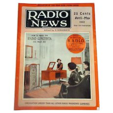 Vintage 1922 Radio News Magazine - Interesting  Articles and Lots of Old Advertising