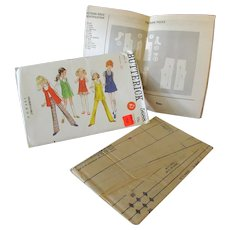 Mod Vintage Fashions for a Young Girl – Butterick #5688 Pattern Size 6