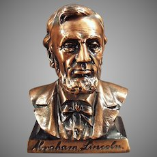Vintage Abraham Lincoln First Federal Savings Bank -  Figural Coin Bank