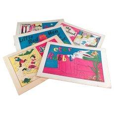 Five Classic Children's Vintage Fairy Tale Booklets - Childhood Stories