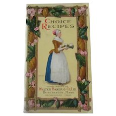 Vintage 1926 Baker's Choice Recipe Booklet with Colorful Illustrations