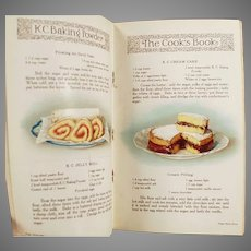 Vintage K C Baking Powder Advertising Recipe Booklet Cookbook