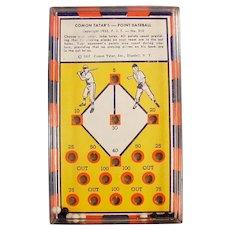 Vintage Skill Game - #310 Comon Tatar's Point Baseball Dexterity Puzzle
