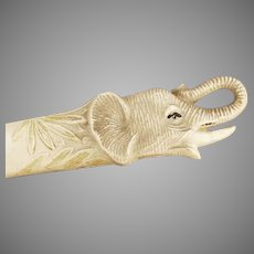 Vintage Viscoloid Celluloid Letteropener - Elephant Head Letter Opener