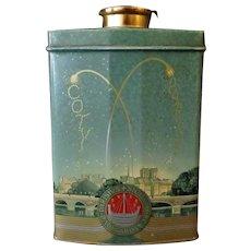 Vintage Coty Au Parfum Paris Talc Tin - 1921 Patent