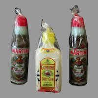 Three Vintage Figural Novelty Liquor Bottle Candles – Made in Japan - Others Available