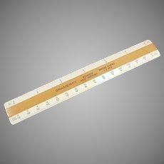 """Vintage 6"""" Gramercy 4 Bevel Flat Engineering/Drafting Scale"""
