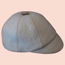 Child's Vintage Light Blue Wool Felt Hat with Short Brim