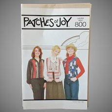 Vintage 1980 Patches of Joy #800 Laurie Vest Pattern – Unused & Complete