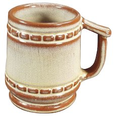 Vintage Frankoma Pottery Mug - C-10 Coffee Cup in Desert Gold