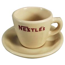Vintage Nestle's Hot Chocolate, Sterling China Cup & Saucer