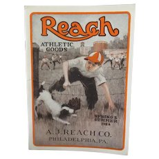 1924 Spring/Summer Reach Athletic Goods Catalog Booklet with Great Sports Equipment Pictures