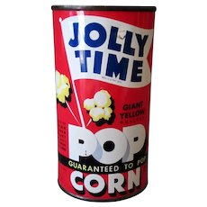 Vintage 1946 Jolly Time Popcorn Tin - Never Opened